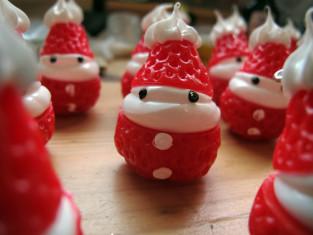 aardbei kerstmannetjes maken