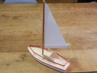 boot knutselen zeilboot