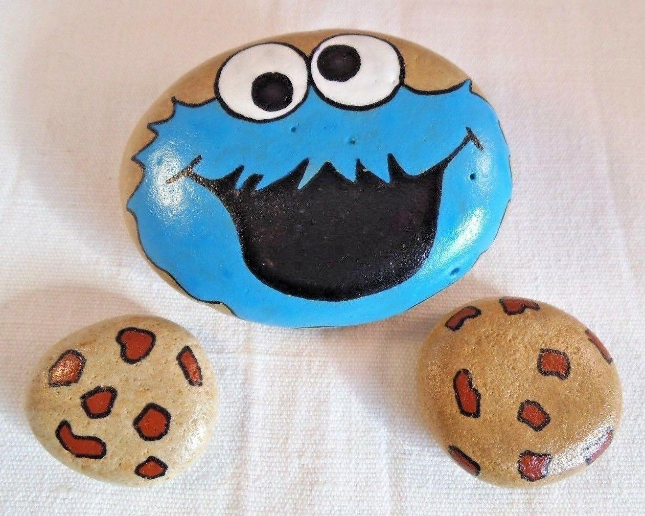 cookie monster happy stone